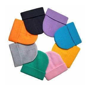 Hat Billie Eilish Knitted Hip-Hop Warm Solid Women Beanies-Bonnet No-Embroidery Cuffed
