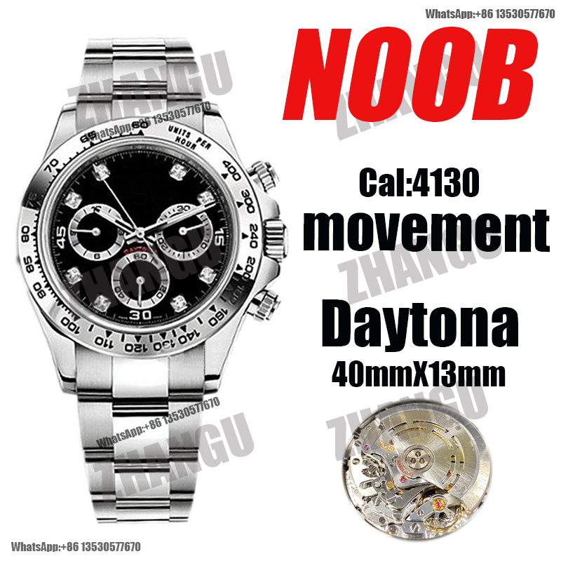 AAA men's automatic mechanical watch Daytona 116500 Noob V4 904L stainless steel 4130 movement 1:1 best version replica