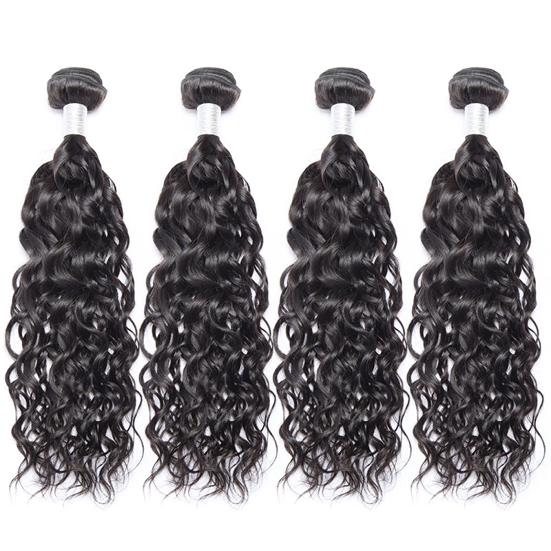 Hair Brazilian durable Water Wave Bundles with Closure 100 Remy Human Hair Bundles With 4*4 Closure