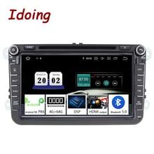 """이도 8 """"2 딘 자동차 안드로이드 10 라디오 플레이어 범용 폭스 바겐 Skoda 좌석 4G + 64G IPS GPS 네비게이션 멀티미디어 헤드 유닛"""