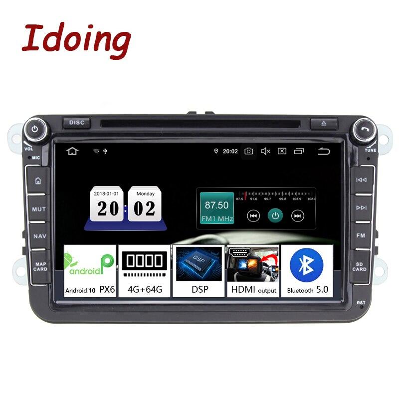 "Idoing 8"" 2 din Car Android 10 Radio Player Universal For VolkswagenSkoda Seat 4G+64G Octa Core IPS GPS Navigation MultimediaCar Multimedia Player   -"