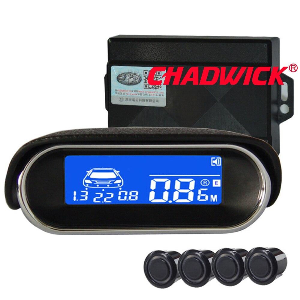 LCD Parkplatz Sensor Auto Auto Detektor Parktronic Display Reverse Backup Radar-Monitor-System mit 4 Sensoren klar CHADWICK 3030