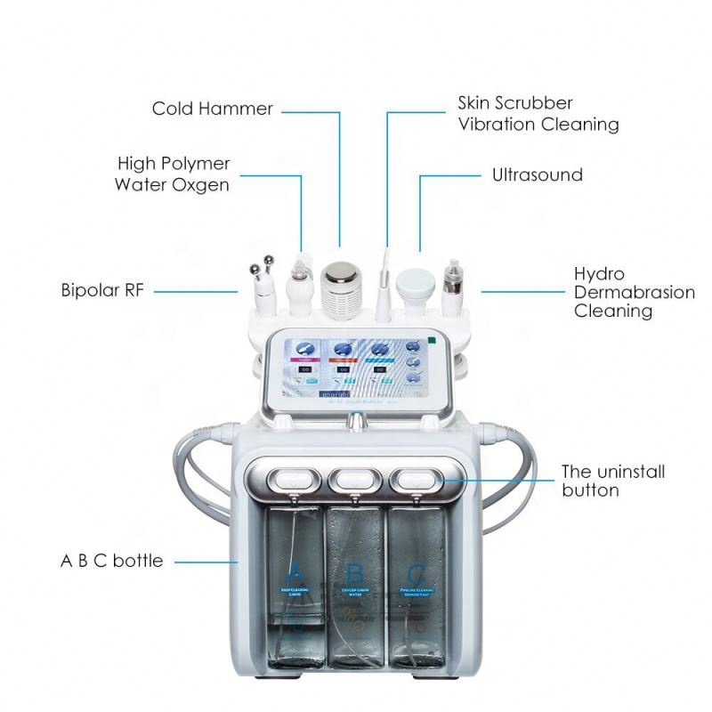 High Quality H2 O2 Hydro Dermabrasion Facial Peel Machine For Spa/deep Clean Oxygen Bubble Aqua Vacuum