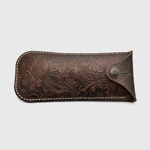 Image 2 - Cubojue cuir véritable, fait à la main, de marque, avec boîte à sangle, pour montures de lunettes, petit bouton de lunettes de soleil, étui à lunettes (53g)