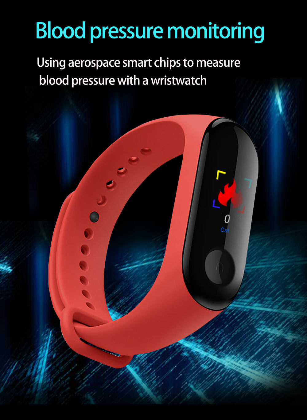 M3Pro Smart Watch Sport Smart Band Blood Pressure Monitor Smart Wristband Smartwatch Bracelet M3 Plus Wristband for Men Women 2