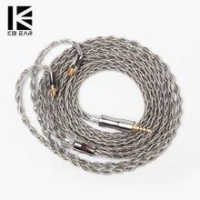KBEAR – cristal de graphène à 8 cœurs, plaqué cuivre, avec câble argenté, connecteur MMCX/2PIN, pour BLON BL03 KB04