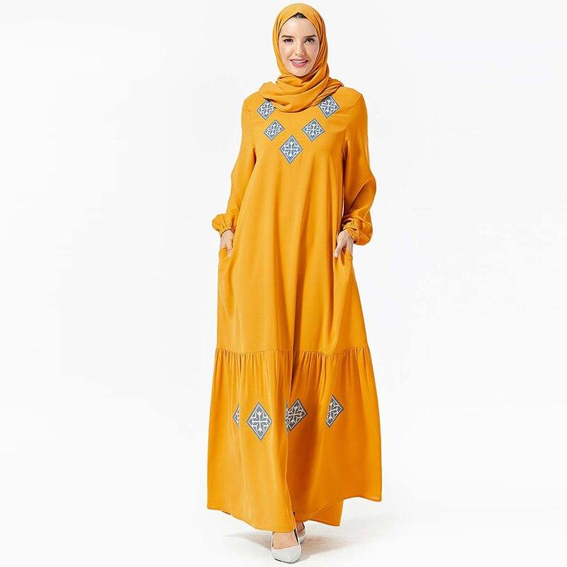 Vestidos Kaftan Abaya Dubai Arabic Hijab Muslim Dress Women Qatar Elbise Turkish Islamic Clothing Robe Musulmane Longue Dresses