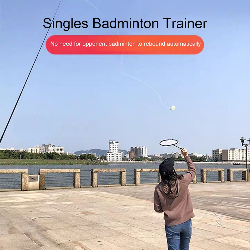 Professional Badminton Trainer Stretch Badminton Robot Racket Training Sports Self-study Practice Badminton Training Device