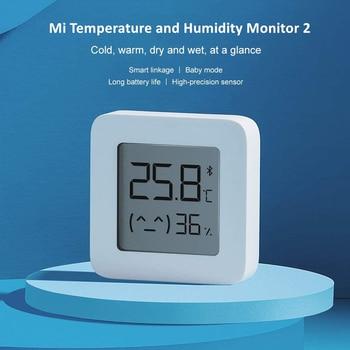 New XIAOMI Mijia Bluetooth Thermometer 2 Wireless Smart Electric Digital Hygrometer Work with Mi APP Humidity Sensor xiami xiomi 4