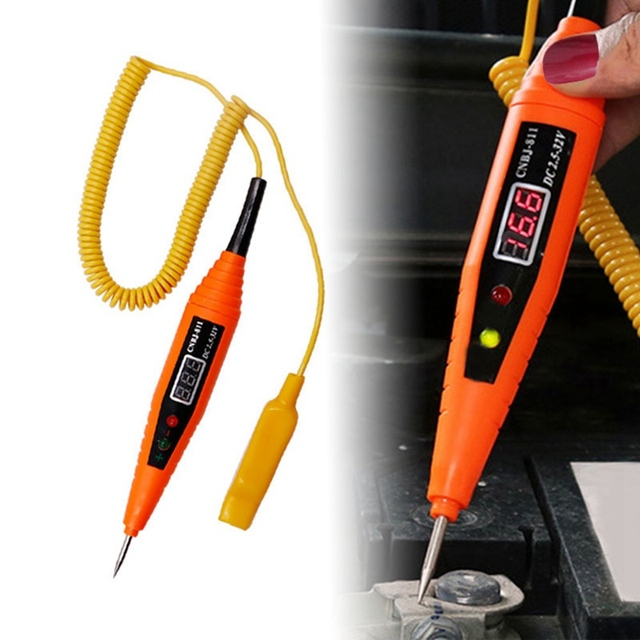 Led Light Voor Auto Testen Diagnostics Tool Digitale Lcd Elektrische Spanning Auto Gereedschap Voor Automotive Test Pen Detector Tester