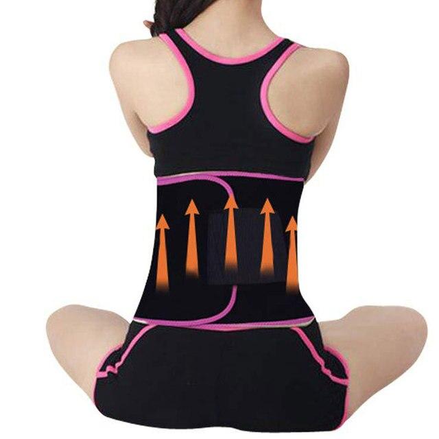 Waist Trainer Belly Slimming Trimmer Sweat Waist Belt Body Shaper Outdoor Workout Running Wide Waistband Corset Waist Shaper 4