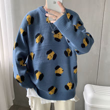 Privathinker Dogs Embroidery O-Neck Men Sweaters 2020 Autumn Cartoon Knitted Pullovers New Men's Man Streetwear Casual knitwear