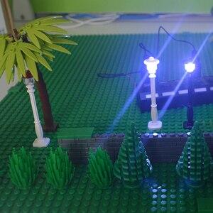 Image 4 - Bloques de construcción de arma militar, accesorios de ciudad, flor y arbusto verde, hierba, árbol, escalera, juguetes, Pilar, ciudad, pared, Compatible con todas las marcas