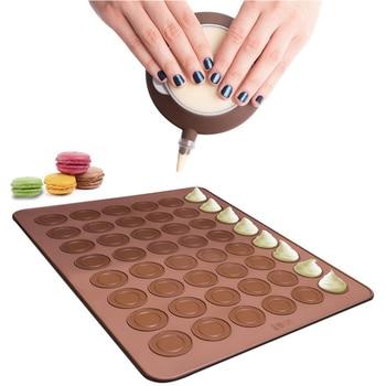 48 Hole 38*28cm Macaron silicone pad baking mat Round Shape Baking Pad DIY Cake Dessert Oven Liner baking tools for cakes Bakeware