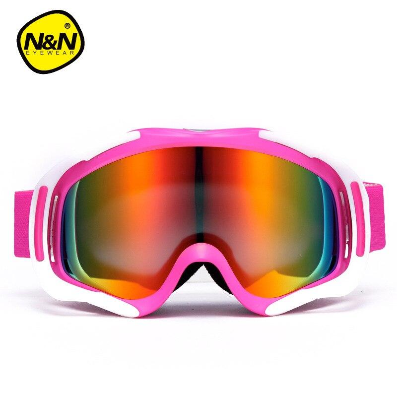 Hommes lunettes de Ski hiver Ski lunettes Double couche grand sphérique Anti-brume Ski lunettes femmes Ski lunettes myopie adaptateur - 4
