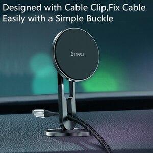 Image 2 - Baseus מגנטי מכונית טלפון בעל עבור iPhone 11 Samsung אוטומטי סלולרי נייד טלפון Stand תמיכת מגנט הר מחזיק עבור טלפון במכונית