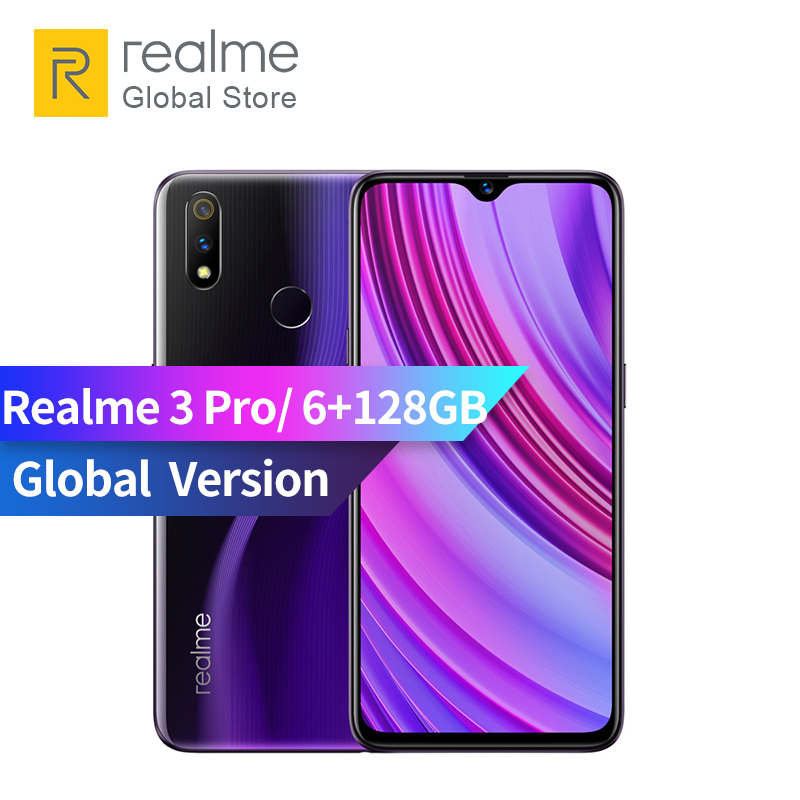 Global Version OPPO realme 3 pro 6GB RAM 128GB ROM 6.3 inch Smart Moblie Phone 4045mAh 16+5MP Dual Camera VOOC Fast Charge 3.0