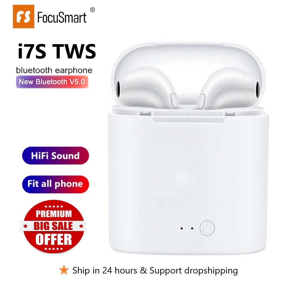 FocuSmart <font><b>Original</b></font> i7sTWS Wireless Headset Bluetooth 5,0 Touch Kopfhörer Stereo Für iPhone Xiaomi <font><b>Huawei</b></font> Samsung Android-Handy image