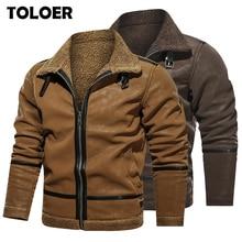 Coat Jacket Winter Men's Warm Male Thick Windproof Plus Outwear Velvet New-Fashion