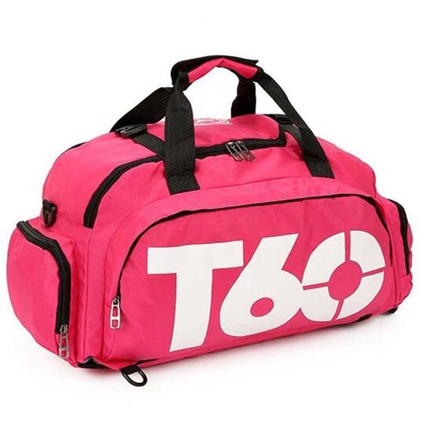 New Sport Gym Bag Men Women Outdoor Waterproof Backpack Separate Space For Shoes Handle Bag 1
