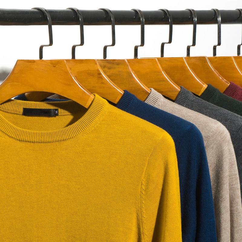 Autumn Winter Cute Sweater Men Casual Knitted Pullover Boys Yellow Oversized Wool Sweaters Long Sleeve Tops Thin 3xl Knitwear