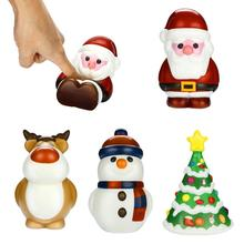 Christmas Gift Simulated PU Holiday Santa Claus With Fragrance Slow Rebound Pressure Reducing Crafts Toys