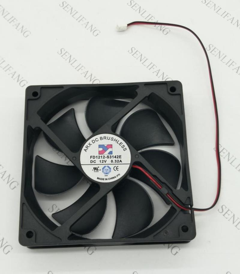 NEW FD1212-S3142E DC 12V 0.32A 2 Wires 12025 12cm 120*120*25mm Oil Bearing Chassis Cooling Fan