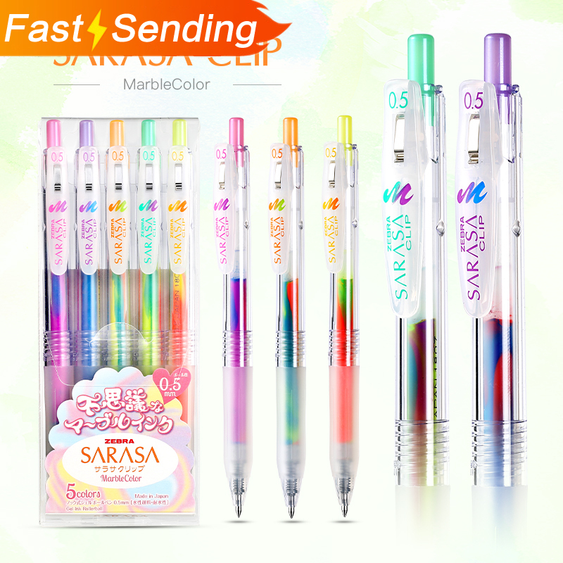 JIANWU 1pc Japan  Zebra Three-color Gradation Gel Pen JJ75 Color Marker Pen 0.5mm Bullet Journal Mixed Color Student Supplies