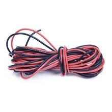2x3 м 26 Калибр AWG силиконовый резиновый провод кабель красный черный гибкий