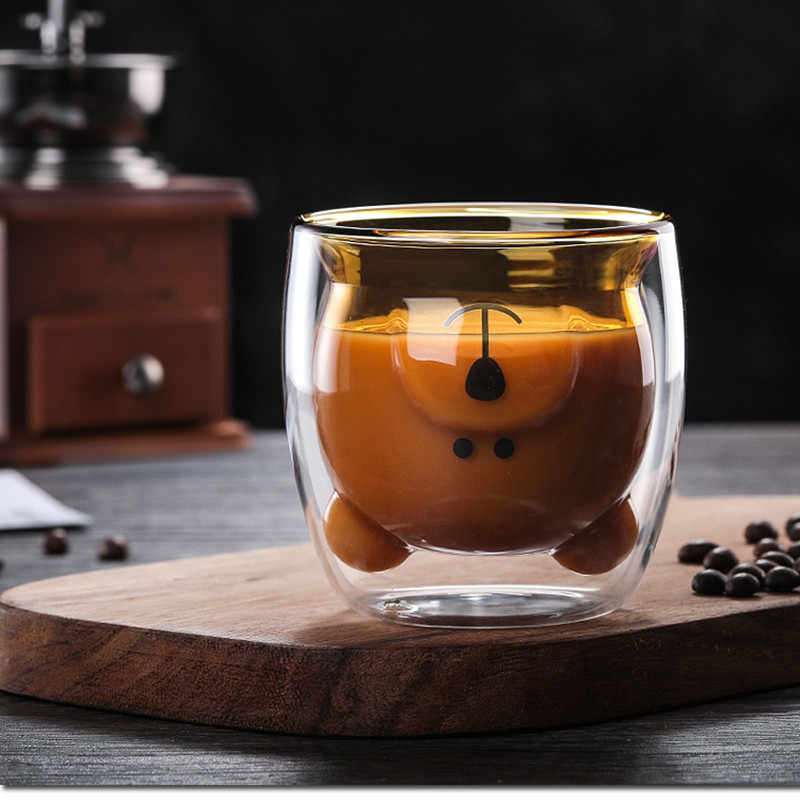Nette Weihnachten Baum Becher Doppel Wand Glas Kaffee Tassen mit Silocone Deckel Schneeflocke Stern Weihnachten Geschenk Wein Tee Milch Wasser tumbler
