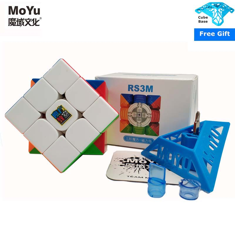 Newest Moyu RS3 M 3x3x3 Magnetic Magic Cube MF RS3M Speed Puzzle Cube Magnet 3x3 Magico Cubo