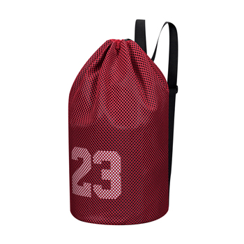 Large basketball bags For balls Soccer Drawstring Mash pack Fitness Net Pocket Outdoor Basketball Backpack For Men Women image
