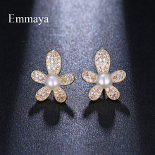 Emmaya Interesting Design Strange Model Star-shape Gold Color With Cubin Zircon For Women Cute Earring Brilliant Gift To Friend(China)