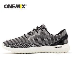 Image 1 - ONEMIX 2020 Nam Nhẹ Chạy Bộ Ngoài Trời Giày Chạy Bộ Đi Bộ Giày Mềm Mại Mùa Hè Thoáng Khí Giày Thể Thao