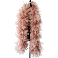 200 Gram Leather Pink Marabou Feathers Boa Shawl Accessory Turkey Feathers For Crafts Wedding Carnival Decoration Wholesale 2 M