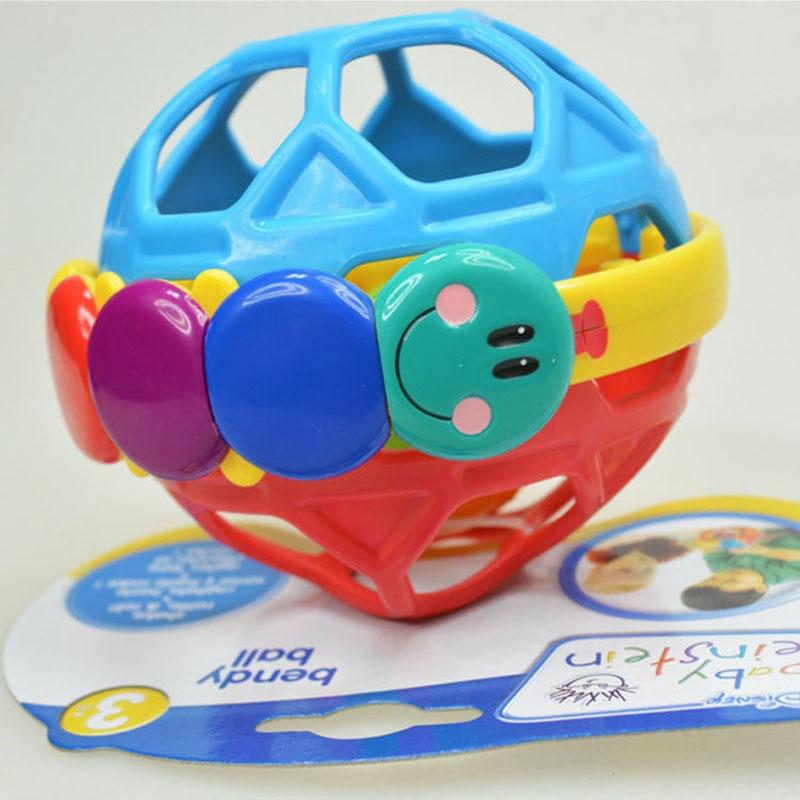 BN Newborns Fun Color Einstein Ball Baby Hand Teether Rattle Fitness Ball Massage Ball Toy