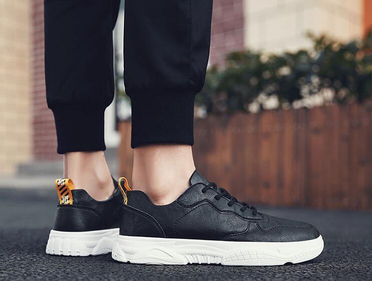 2019 lente nieuwe mode koele mannen jonge man lace up microfiber lederen casual schoenen mannen trend schoenen loafers - 4