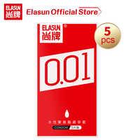 Elasun 5PCS Ultra Thin 0.01 Condoms Intimate Goods Plus Size Condom Big Penis Sex Products Erotic Sex Shop For Men Cock