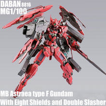 Daban 8816 mg 1/100 mb astraea tipo f gundam com oito escudos e slasher duplo montado figura de ação modelo brinquedos