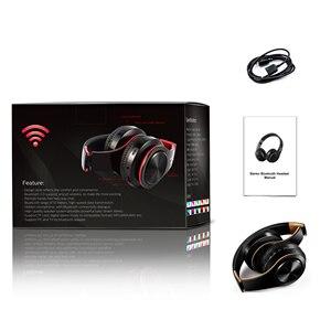 Image 5 - ¡Recién llegado! Auriculares Bluetooth en color oro brillante, auriculares inalámbricos estéreo con micrófono y tarjeta TF