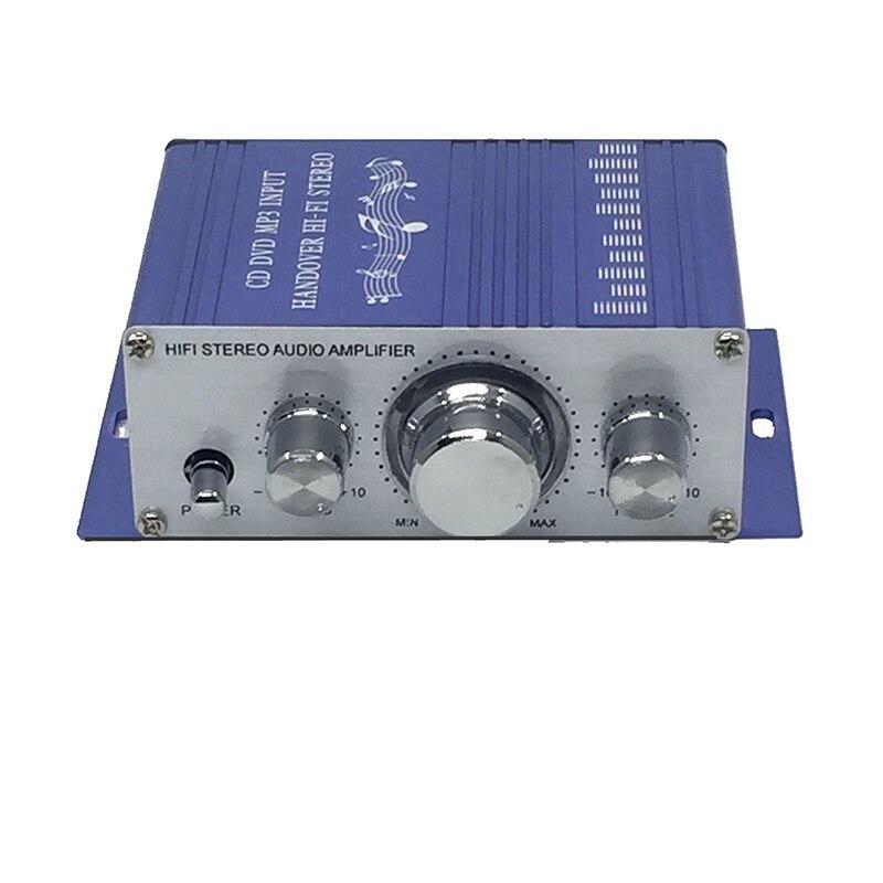 Мини 12 В 20 Вт* 20 Вт HiFi стерео аудио усилитель для 2 канала стерео DVD динамик автомобиля MP3 FM радио лодка Универсальный Портативный - Цвет: Синий