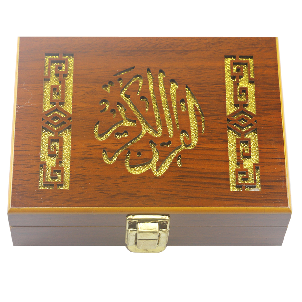 Wooden Islam Eid Ramadan Jewelry Storage Box Gurban Festival Fine Paint Put Bible Book Box for Gift Crafts Decoration Packaging|Storage Boxes & Bins| |  - title=