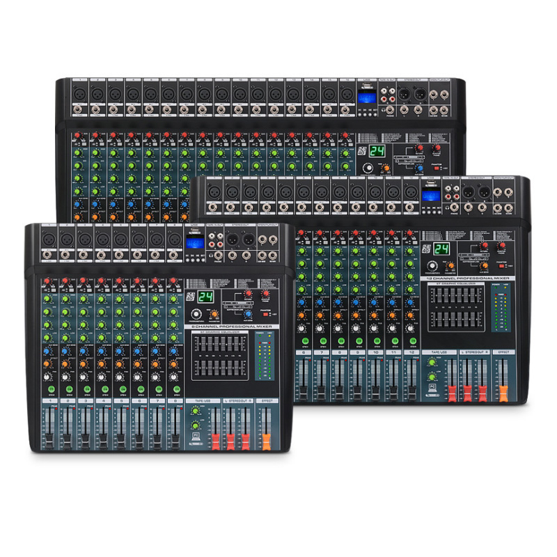 EV16 professional mixer with USB reverberation 24 digital effects conference stage performance tuner Bluetooth function