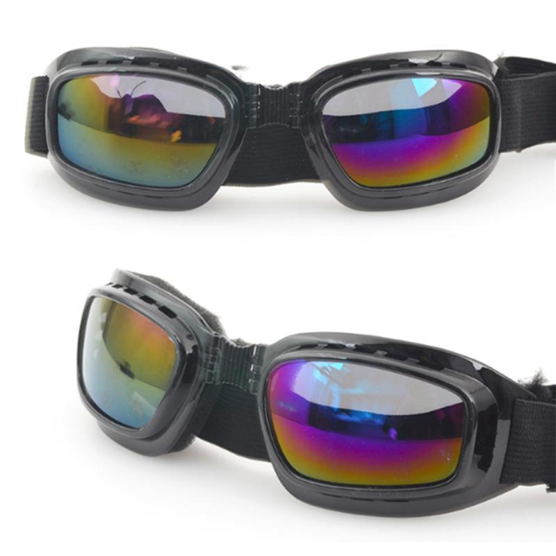 Unisex Folding Goggles Windproof Mirror Dustproof Splash Proof Windproof Color Film Welding Mirror Slip Motorcycle Goggles