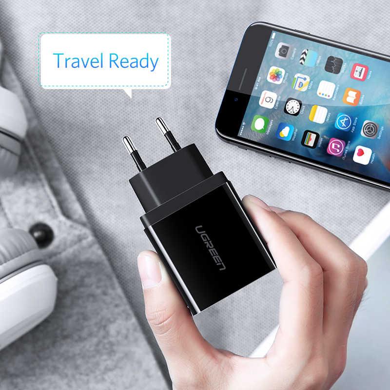 UGREEN USB Sạc Cho Samsung Xiaomi Huawei Sạc Điện Thoại 3.4A Max Nhanh Chóng Sạc Cho iPhone X Adapter Châu Âu Treo Tường sạc