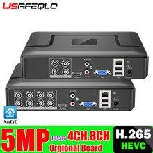 XMeye-enregistreur vidéo AHD Audio, HVR h265 + Hi3521D 5MP, 8 canaux, WIFI hybride, 6 en 1, TVI CVI NVR AHD, vidéosurveillance DVR