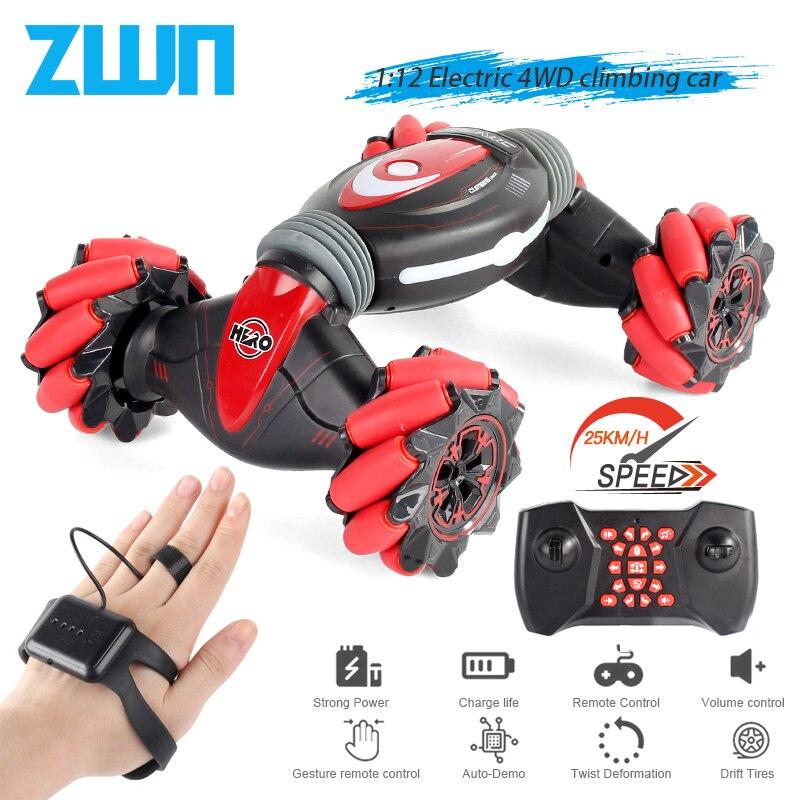 ZWN C1/ C1 MINI 4WD RC AUTO Radio Geste Induktion 2,4G Spielzeug Licht Musik Drift Tanzen Twist Stunt fernbedienung Auto für Kinder