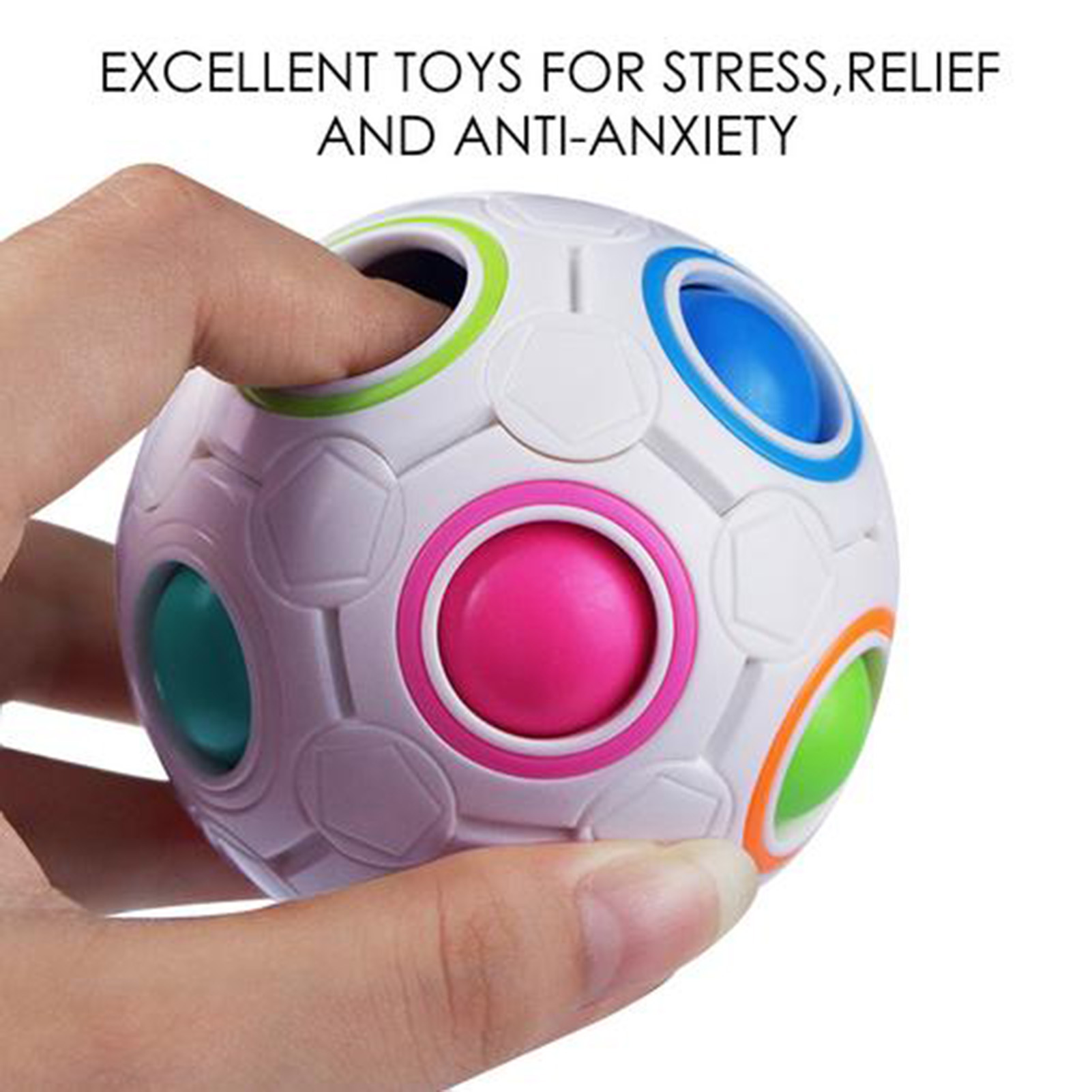 NEW Sensory Fidget Toys Pack Stress Relief Hand Toy for Kids Adults Calming queeze Bean img5