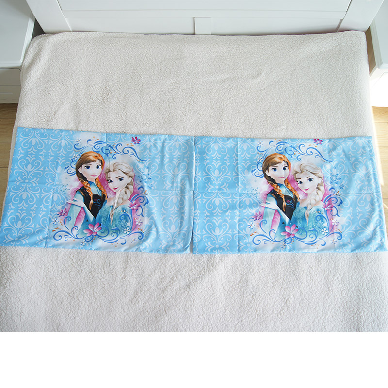 Image 5 - 3D Printed Bedding Set Frozen Elsa Anna Rapunzel Princess Girls  Boys Single Bedlinen Duvet Cover Pillowcases for 0.9m 1.2m BedBedding  Sets