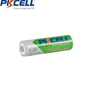 Image 3 - 4 قطعة/بطاقة PKCELL AA بطارية قابلة للشحن ni mh 1.2 فولت 2200mAh منخفضة التفريغ الذاتي دائم NIMH 2A AA بطاريات للعب مصباح يدوي